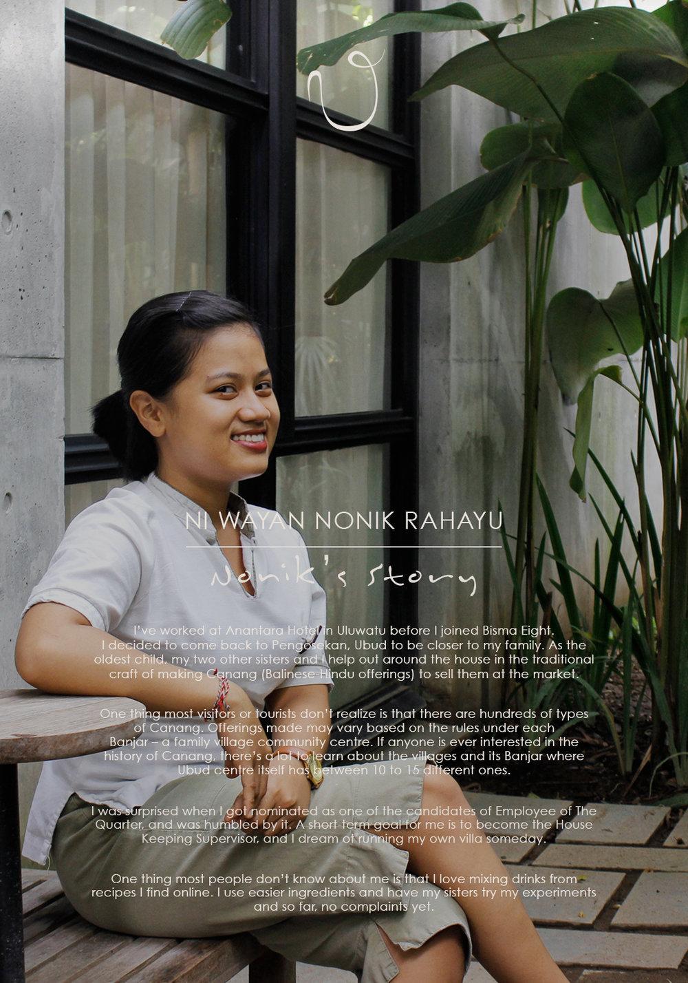 Ni Wayan Nonik Rahayu – Employee of The Quarter – January to March 2016