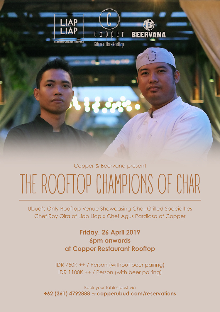 Left: Chef Roy Qira; Right: Chef Agus Pardiasa