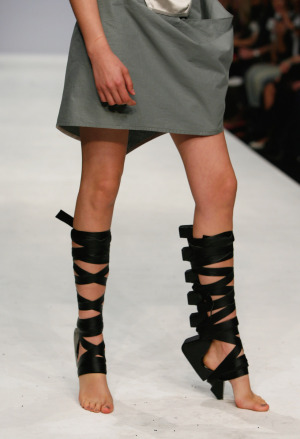 Eelko Moorer Stilt shoes for Aminaka Wilmont SS09