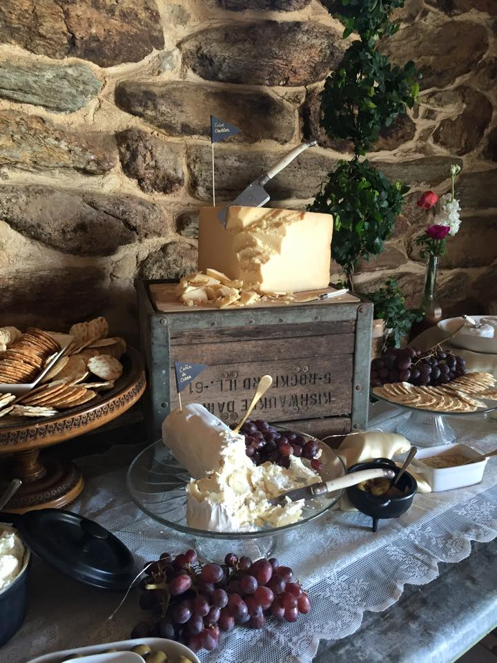 cheese & charcuterie display by Wild Thyme Event Studio
