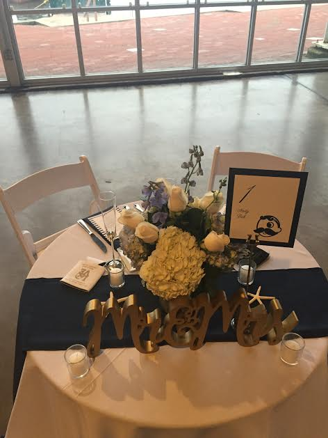 Mary & Geoff's sweetheart table