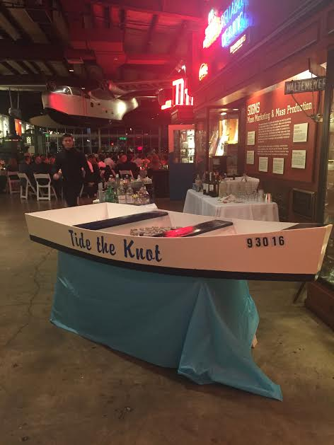 Mary's father built this adorable beer cooler boat.