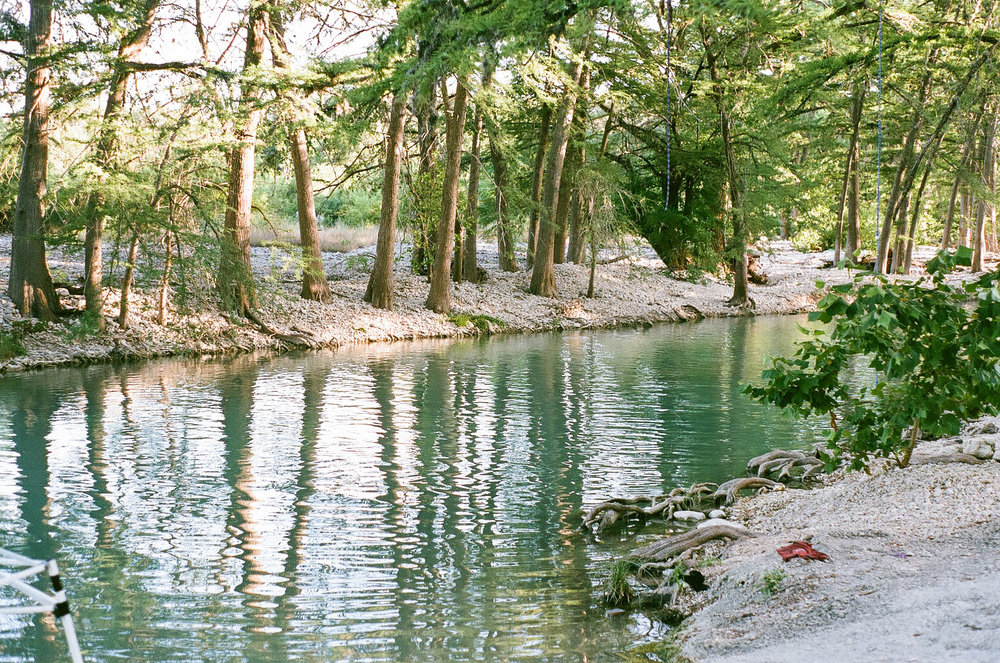 Evening light at the Frio River