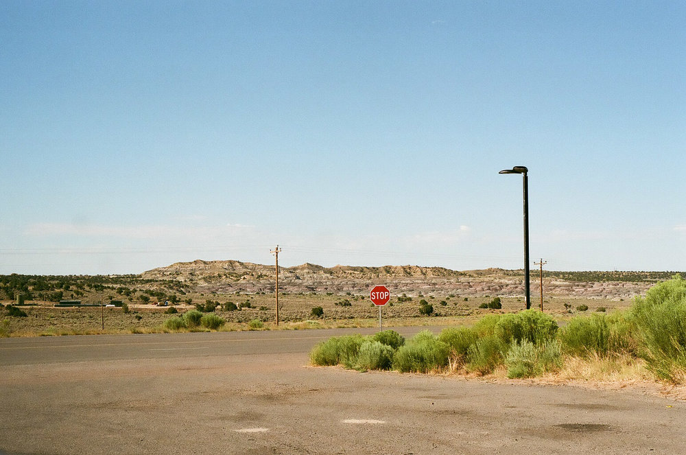 Gas station scenes in New Mexico