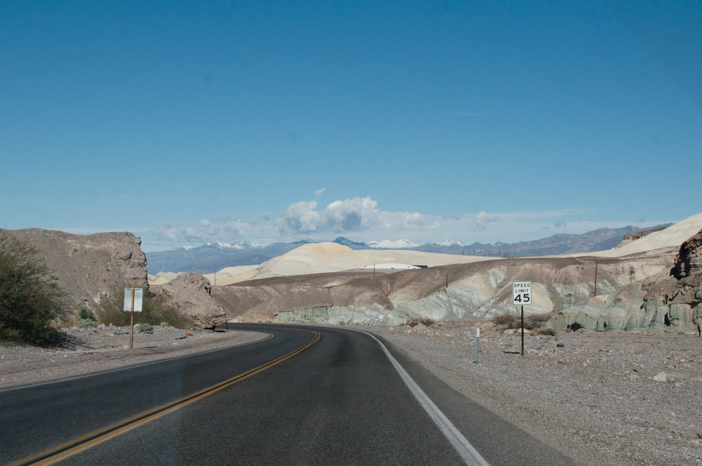 The descent into Death Valley National Park
