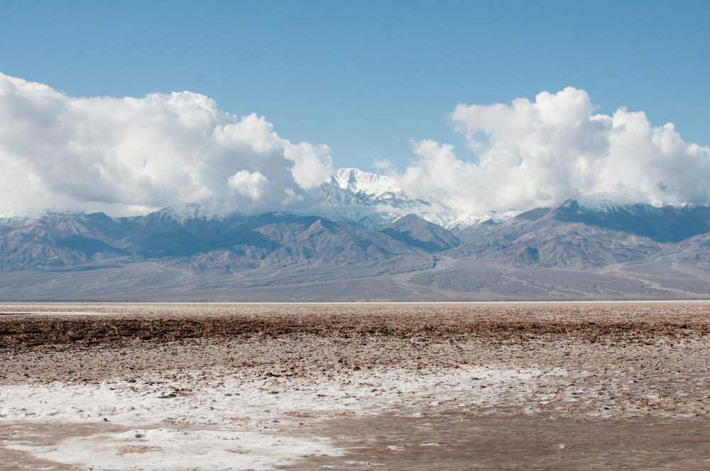 The salt flats of Badwater Basin