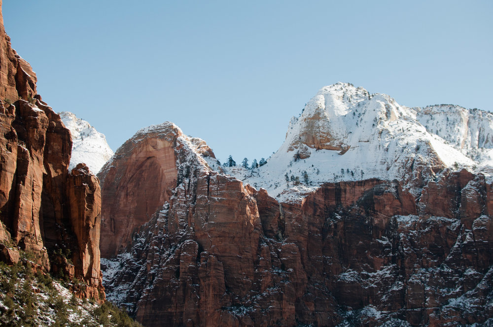 Snow in Zion National Park