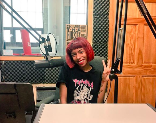 That's Ravyn Lenae in the CHIRP studios after our interview.