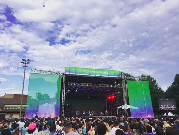 Angel Olsen is somewhere on that stage at Pitchfork.