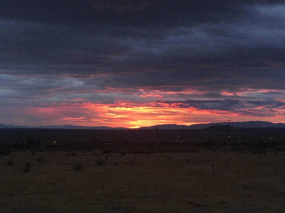 Sunrise in the Mojave Desert.