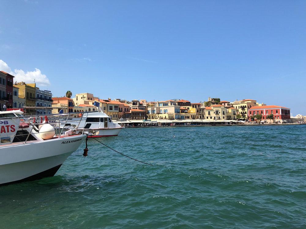 The Venetian Harbor in Chania, Crete.