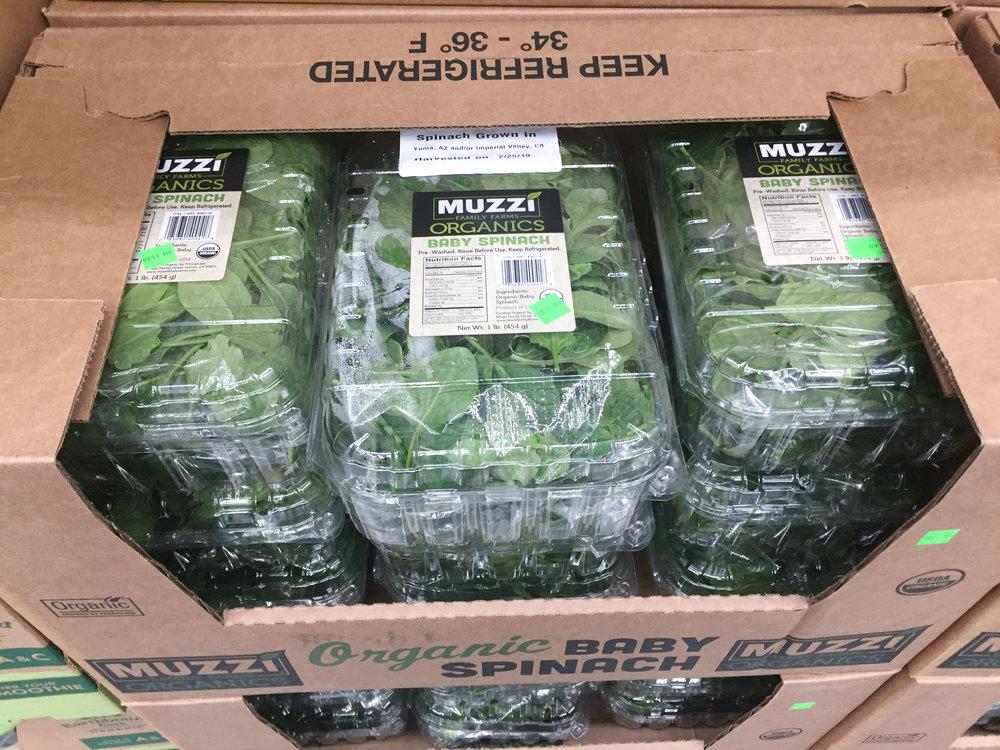 baby spinach Costco
