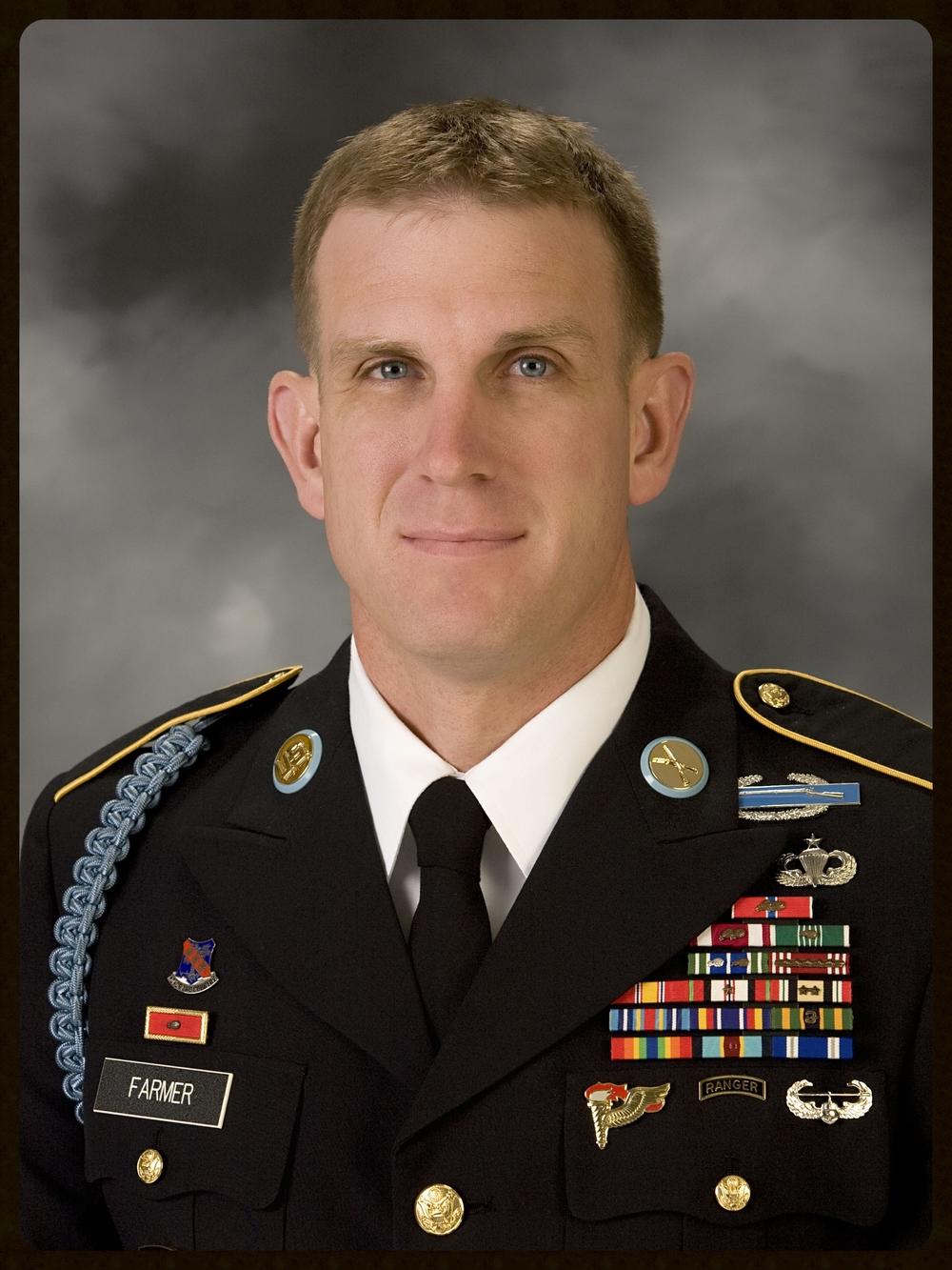 MSG ADAM FARMER United States Army