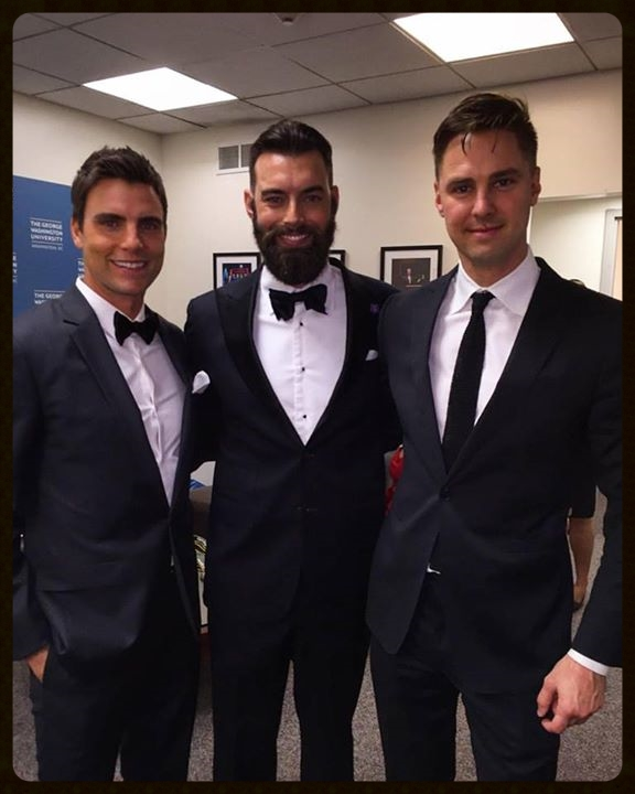 Colin Egglesfield, Nick Karnaze and Todd Courtney Backstage