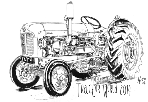 Msquires Tractorworld Fordson Ink