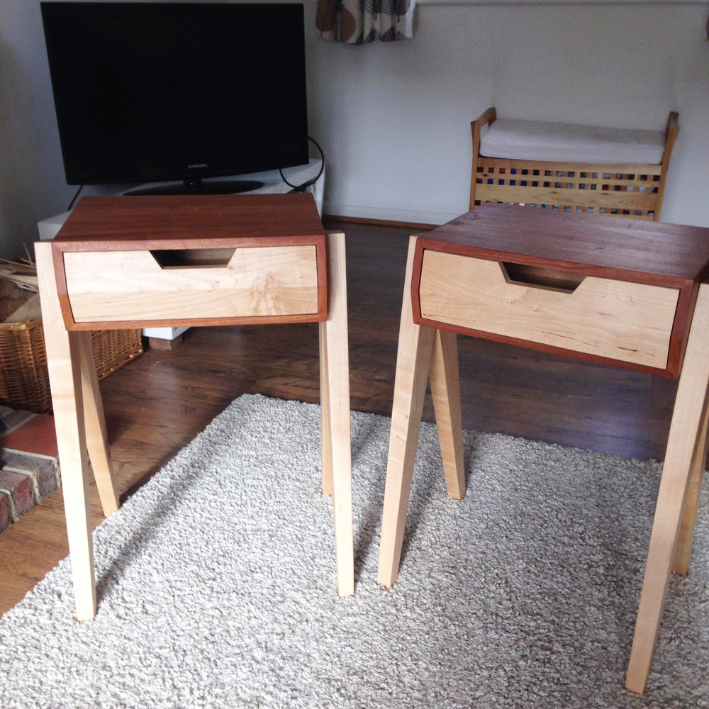 Custom Side Tables Maple And