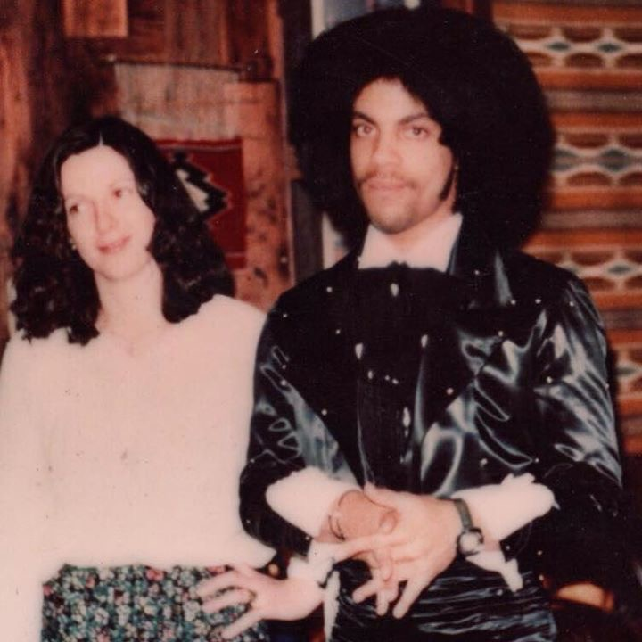 Diane Estelle Vicari & Prince finishing the outfit she made him for the Grammy's