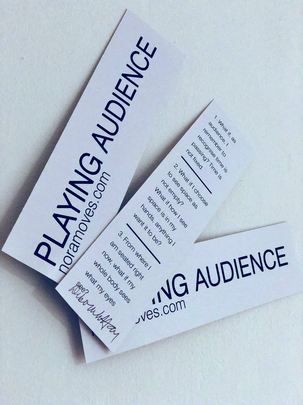 Playing Audience bookmarks
