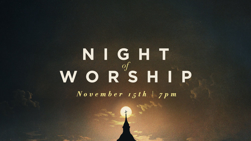 Join us for the final Night of Worship of 2017. This will be a great time for the entire family. There will be no Royal Rangers, MPact, or Youth services. Childcare for Birth-Pre K will still be available.
