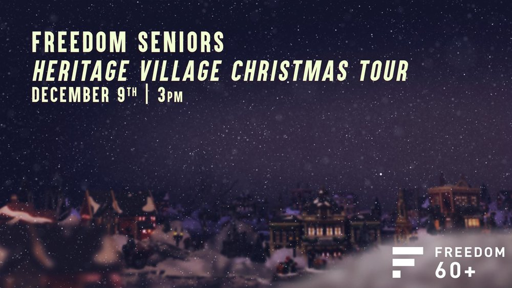 "Don't miss the Dallas Heritage Village ""Candlelight"" event with the Freedom Seniors! You'll enjoy great Christmas traditions with strolling carolers, carriage rides, hayrides, crafts and delicious holiday treats, all surrounded by flickering candle lined pathways winding through Historic buildings dressed in traditional holiday decorations from late 1800 to early 1900's. We will leave the church at 3PM and return at 8PM. The cost is $10 per person. Reserve and pay for your spot today by clicking  here!"