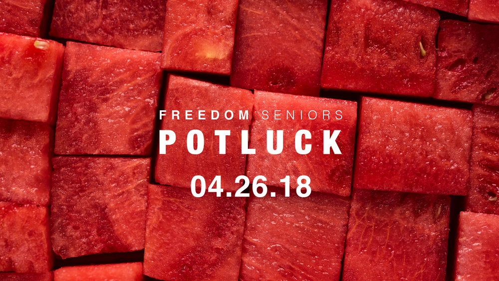 The Freedom Seniors monthly potluck happens the 4th Thursday of every month at 6:30 p.m. in the Coffee Shop of the church. Mark your calendar, bring a friend, and join us at out next get together on April 26th for plenty of food, fun and fellowship!