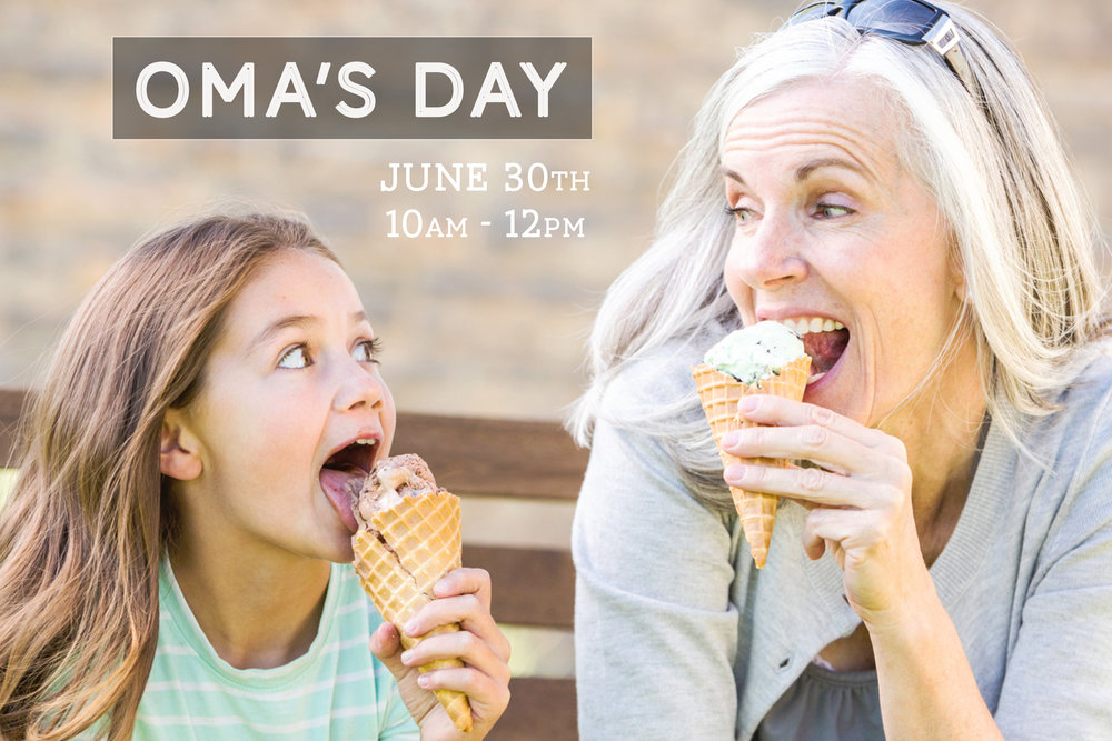 Oma's Day June 30th | 10 a.m.   Ladies, join us on June 30th from 10 a.m.-12 p.m. here at the church for Omas Day. This is for Omas, Grandmas, Moms and Aunts. Bring your favorite kids for a morning of fun and creativity as we show you ways of excitement within your home through crafts, and games. Register  here .
