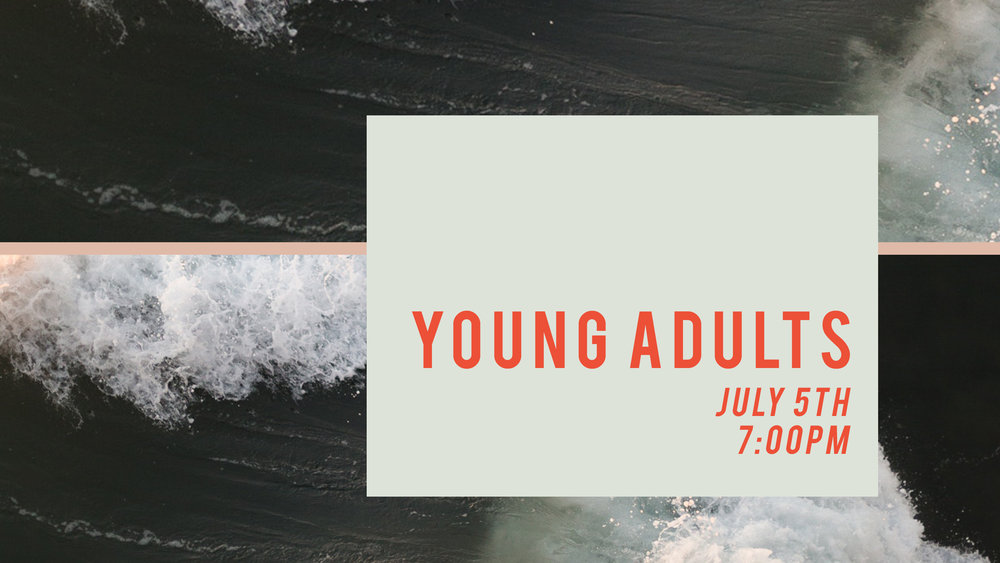 Our next Young Adults service is Thursday night, July 5th at 7pm. If you're 18 to 30ish, come join us at Young Adults service for coffee, worship, and a word. This is a great time of community here at Freedom!