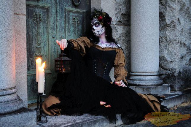 Lady Death relaxing Dias de los Muertos