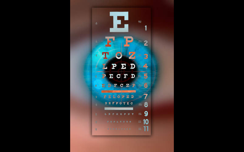 Eye Chart - BL6191 ©Mike Agliolo/Science Source