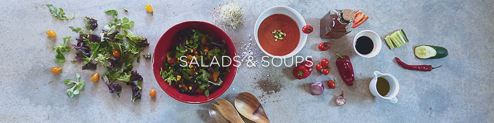 simple healthy salads soups
