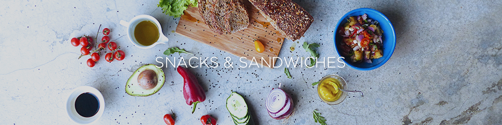 simple healthy snacks sandwiches