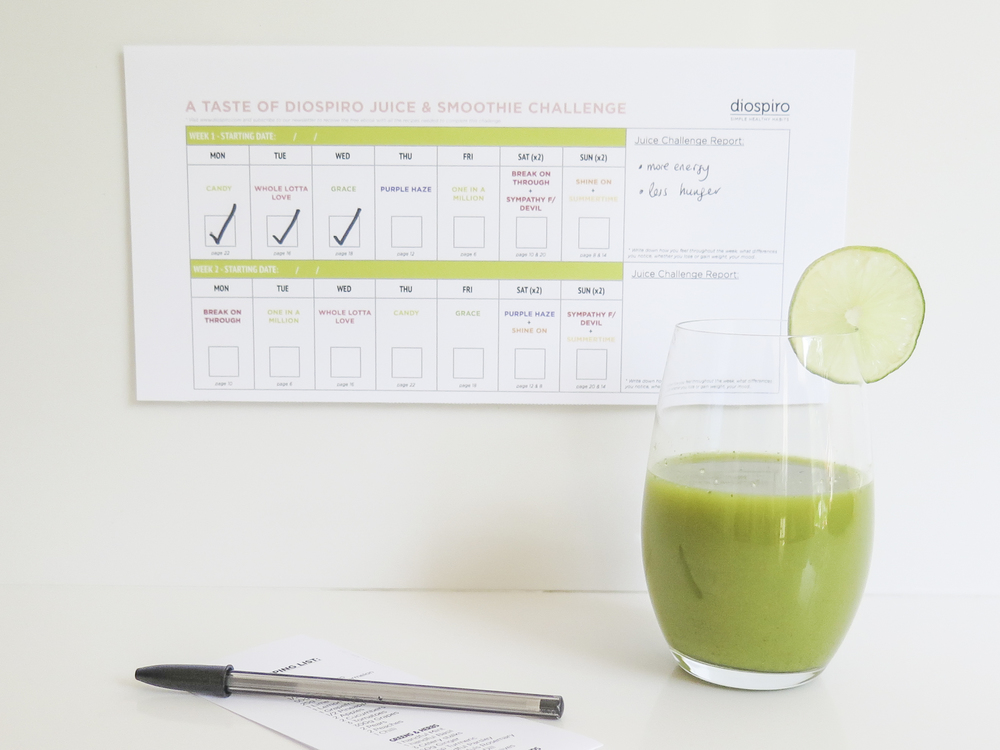 simple healthy habits juice smoothie challenge guide