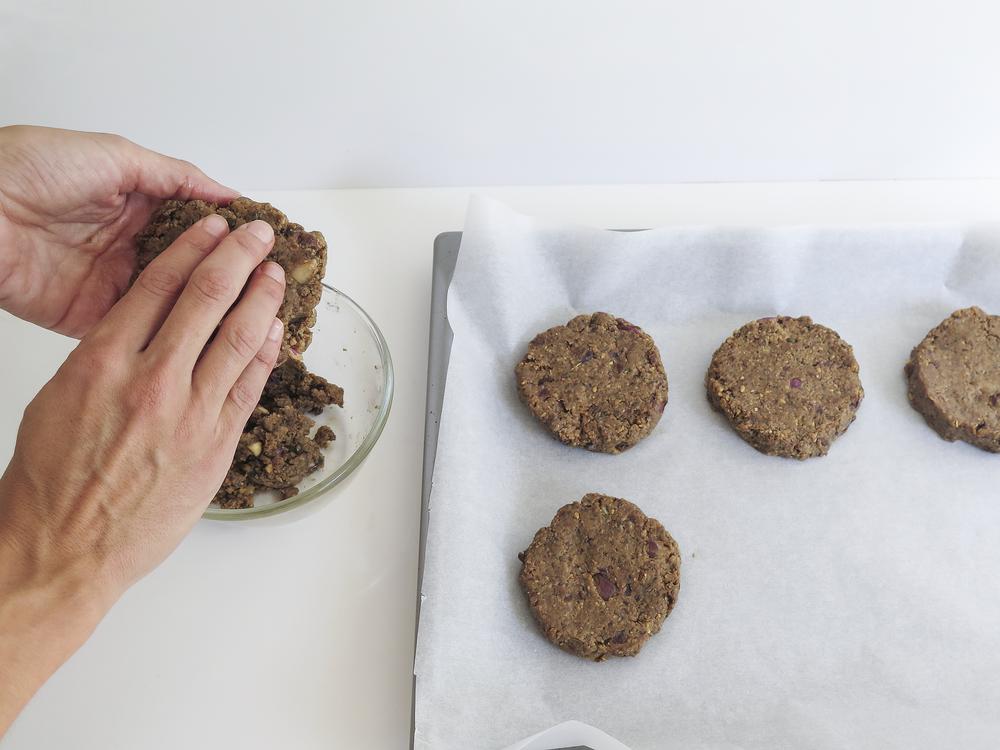 preparaçao hamburgueres vegetarianos veggie burgers healthy diospiro