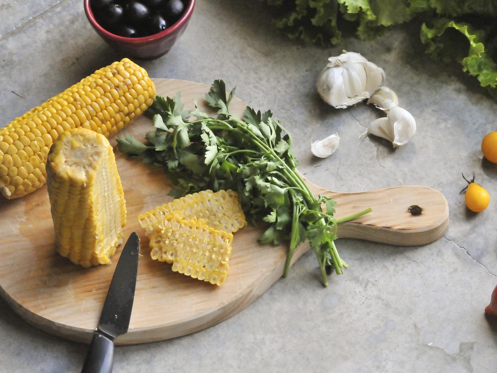 diospiro sweet corn simple healthy salad