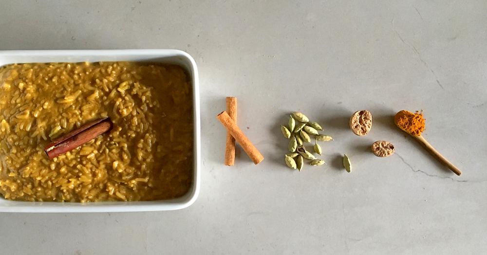 diospiro simples saudavel arroz doce especiarias