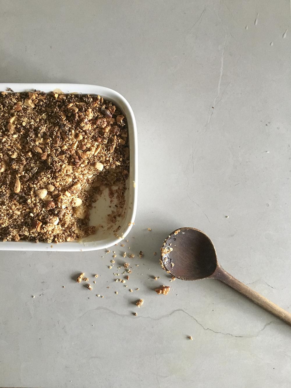 diospiro simples saudavel crumble vegan