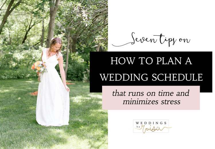 7 tips on how to plan a wedding schedule that runs on time and thumbnailg junglespirit Image collections