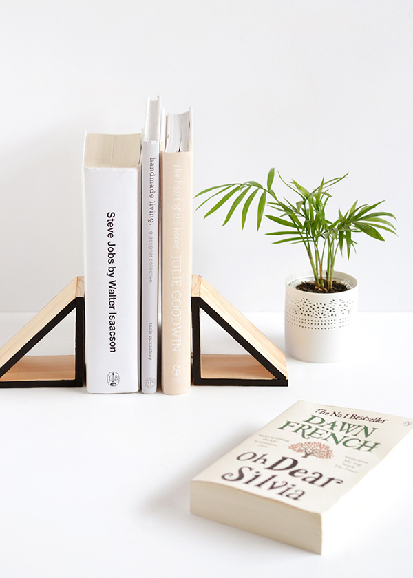 Painted Triangle Bookends