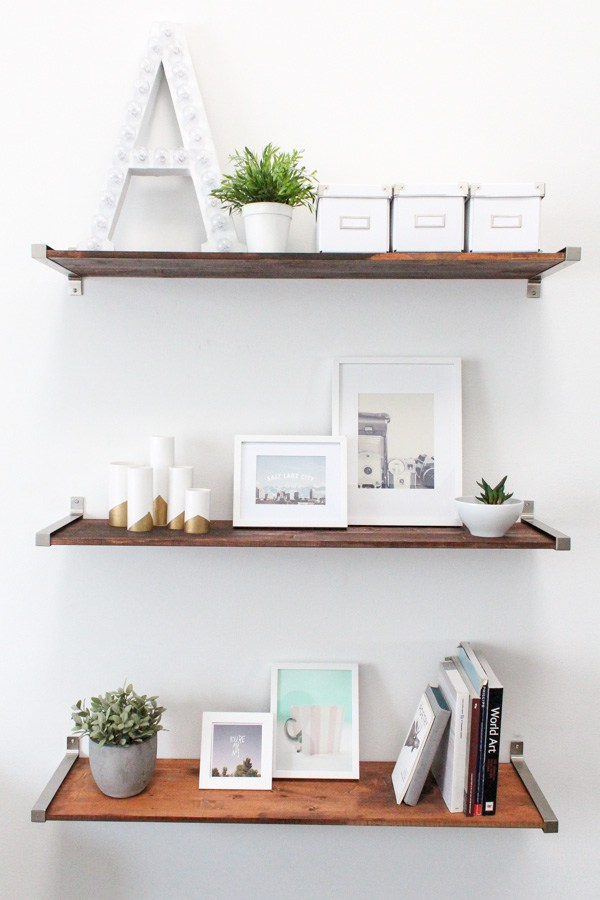 IVAR shelf + EKBY brackets