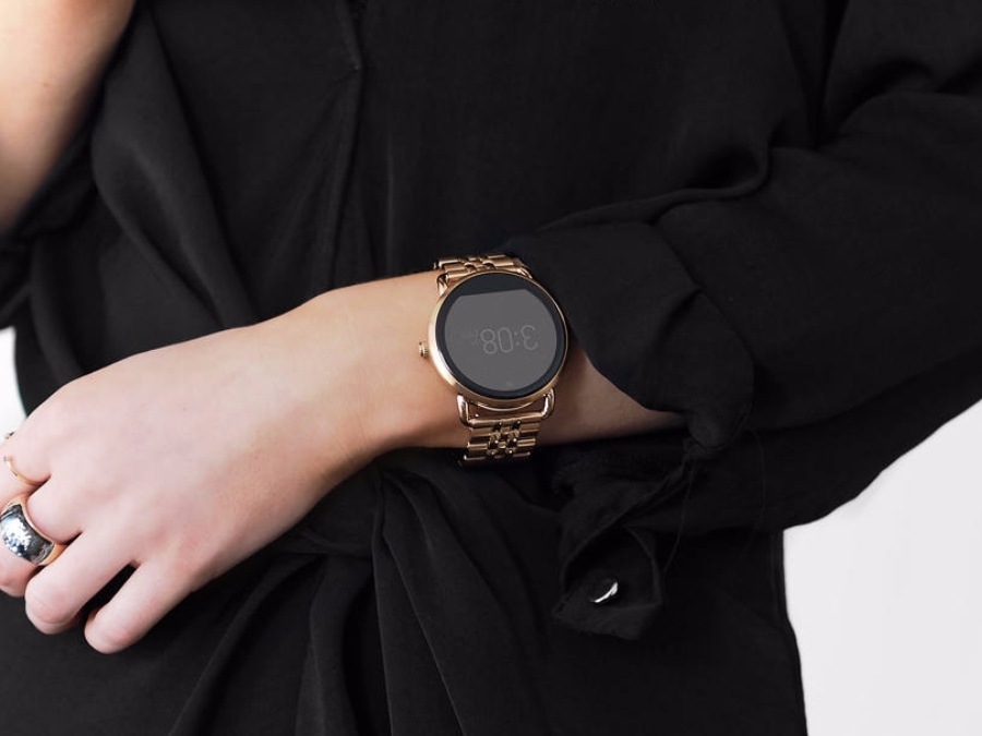 Rose gold smartwatch