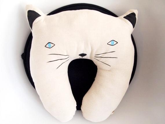 Cozy cat neck pillow