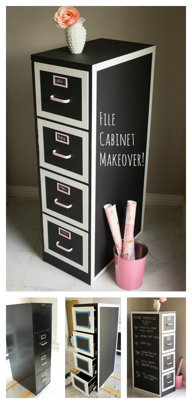 Dual purpose chalkboard cabinet