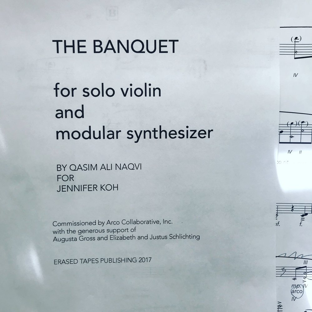 excited to premiere this new work for virtuoso  Jennifer Koh   at National Sawdust// thanks for the opportunity to carve something new!! //  more info