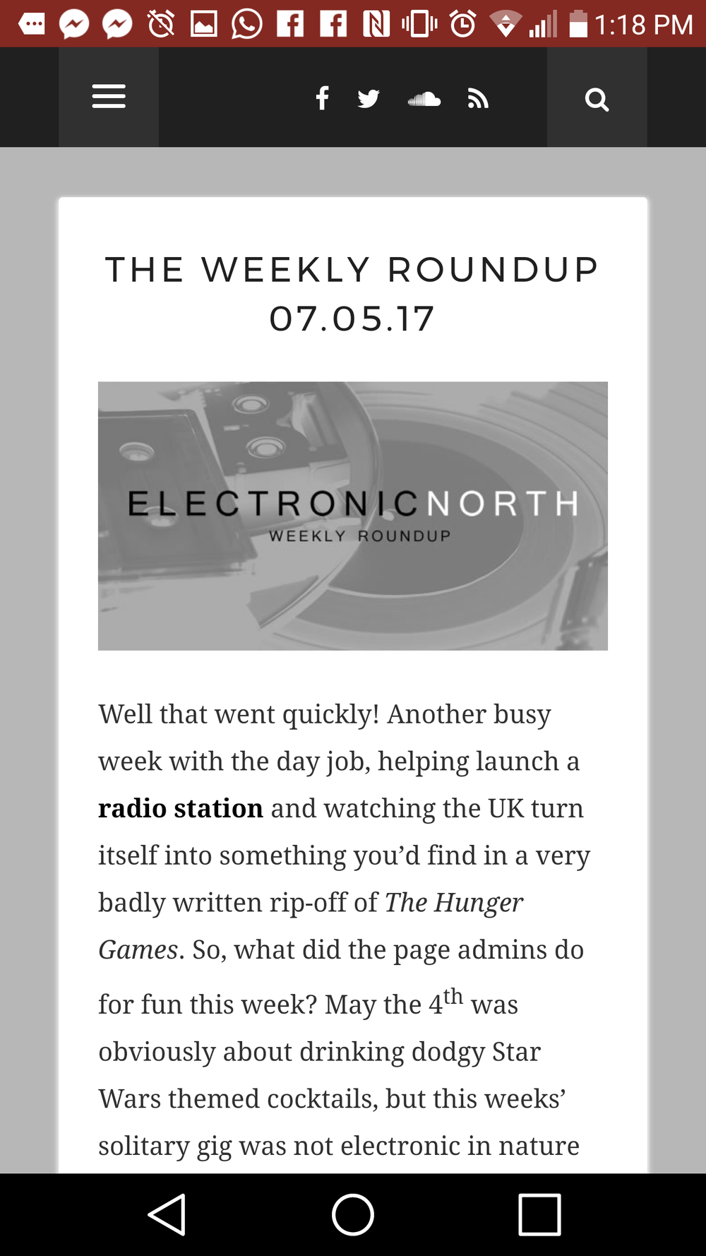Electronic North Weekly Round Up