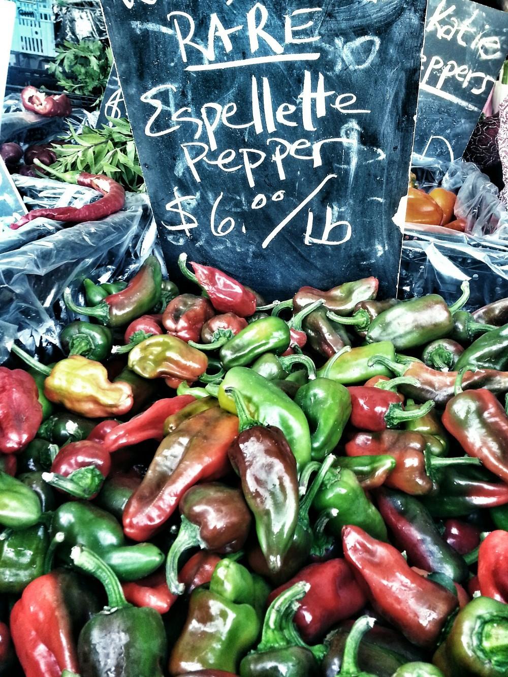 Delphine farmers market peppers.JPG
