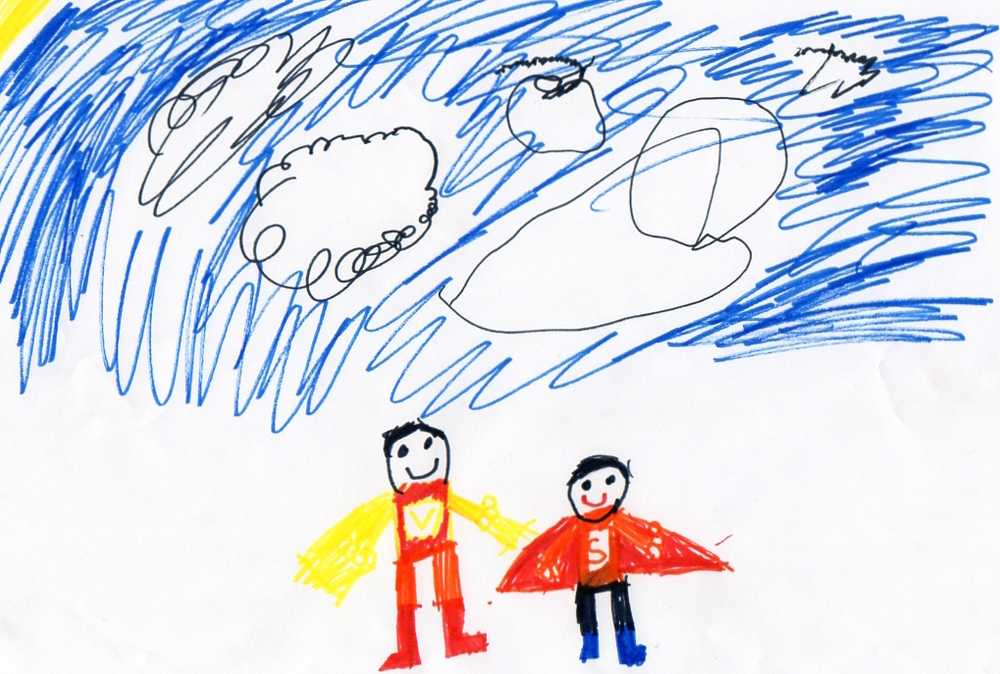 Me and Dad by Connor Sicat (age 5)