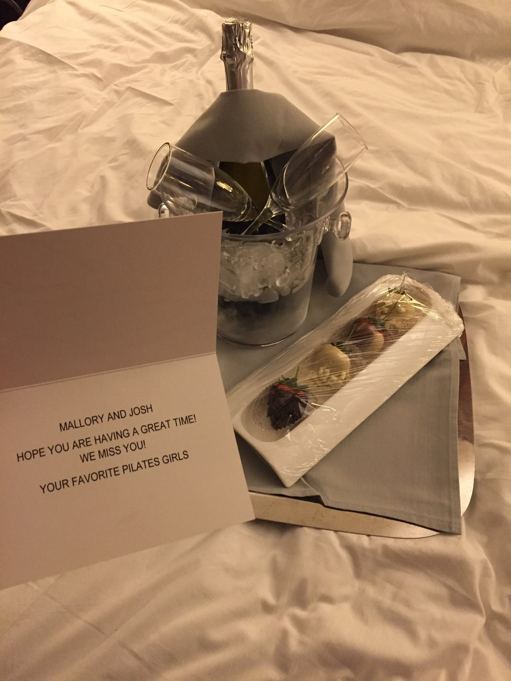 Josh and I got back to our room around 10:30 after having dinner at Crush in the MGM grand to this. HOW AMAZING ARE MY CLIENTS! :)
