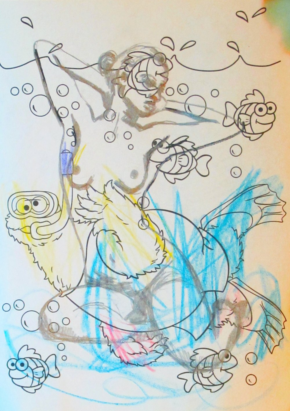 """Cookie Swimming"" from ""Art Time Mama"" series, 2012-currently"