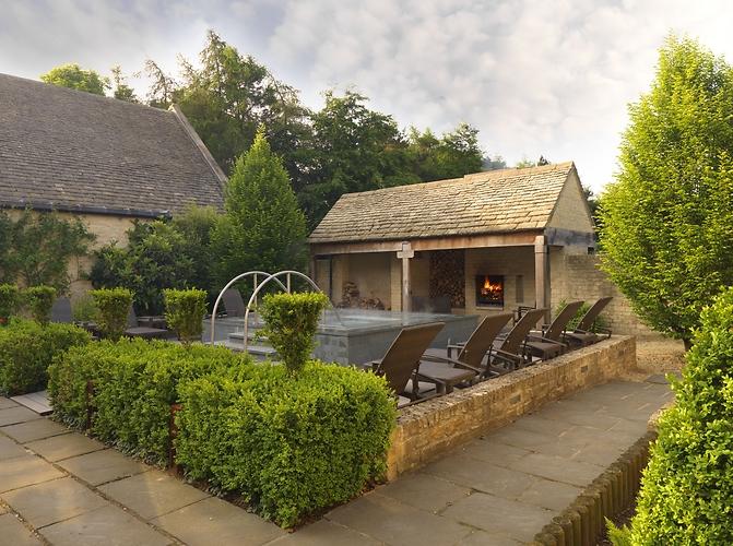 Spa and hot tub at Calcot Manor
