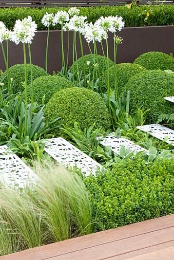 Calcot garden flowerbeds